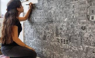 Le sue illustrazioni sono così complesse che ci vogliono ore per osservare tutti i dettagli