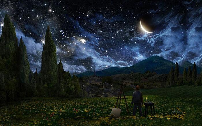 Notte Stellata Reinterpretazioni