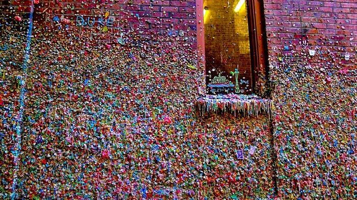 Muri Ricoperti Di Gomme Da Masticare Stati Uniti