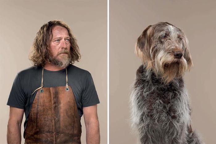 Fotografo mette a confronto cani e rispettivi proprietari e la somiglianza è sconcertante