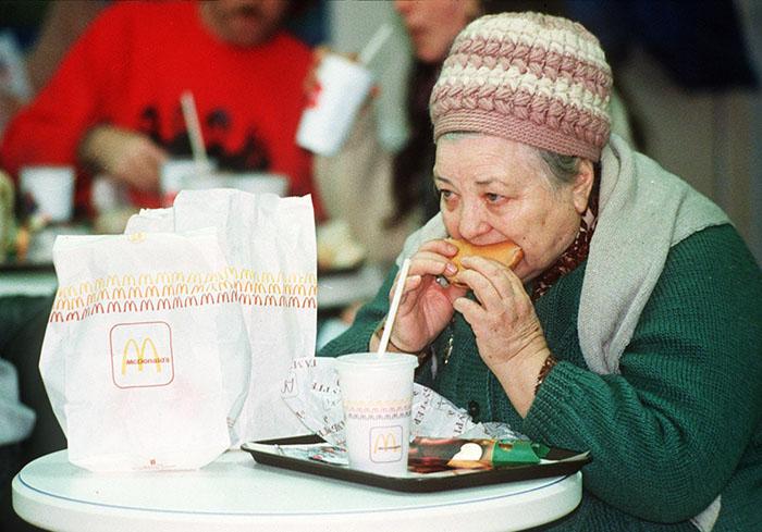 Apertura Primo McDonald's Mosca 1990