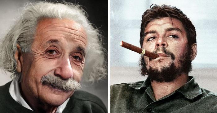Vecchie foto in bianco e nero di personaggi famosi ritrovano il colore e sono incredibili
