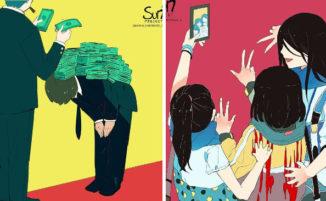96 destabilizzanti illustrazioni mostrano cosa c'è di sbagliato nella nostra società