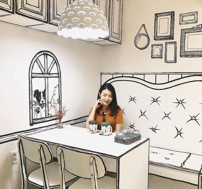 Questo insolito bar di Seoul ti farà entrare in un fumetto