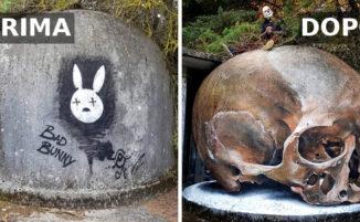 Street artist portoghese crea graffiti 3D davvero impressionanti