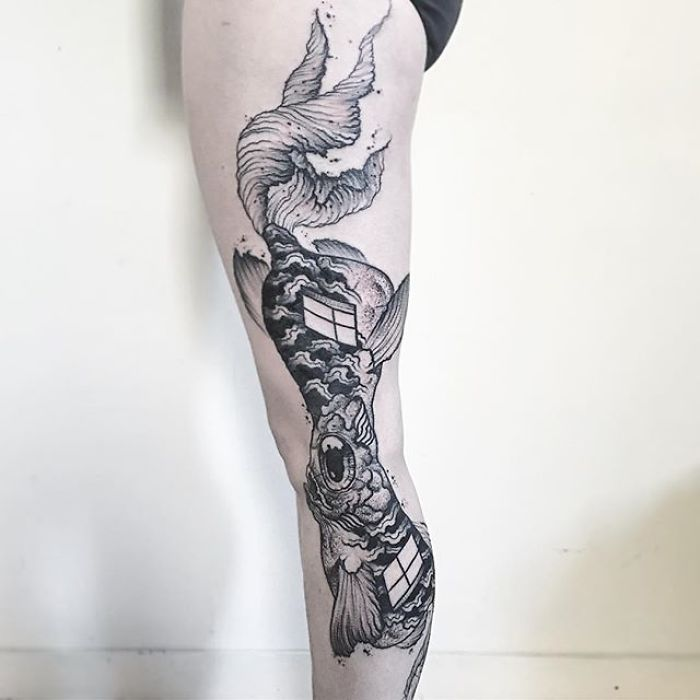 Tatuaggi Illusioni Ottiche Vek Van Hillik