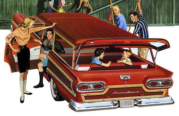 Foto Vintage Anni '60 Auto Station Wagon