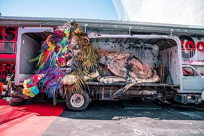 Sculture Animali Fatti Di Rifiuti Bordalo II Las Vegas