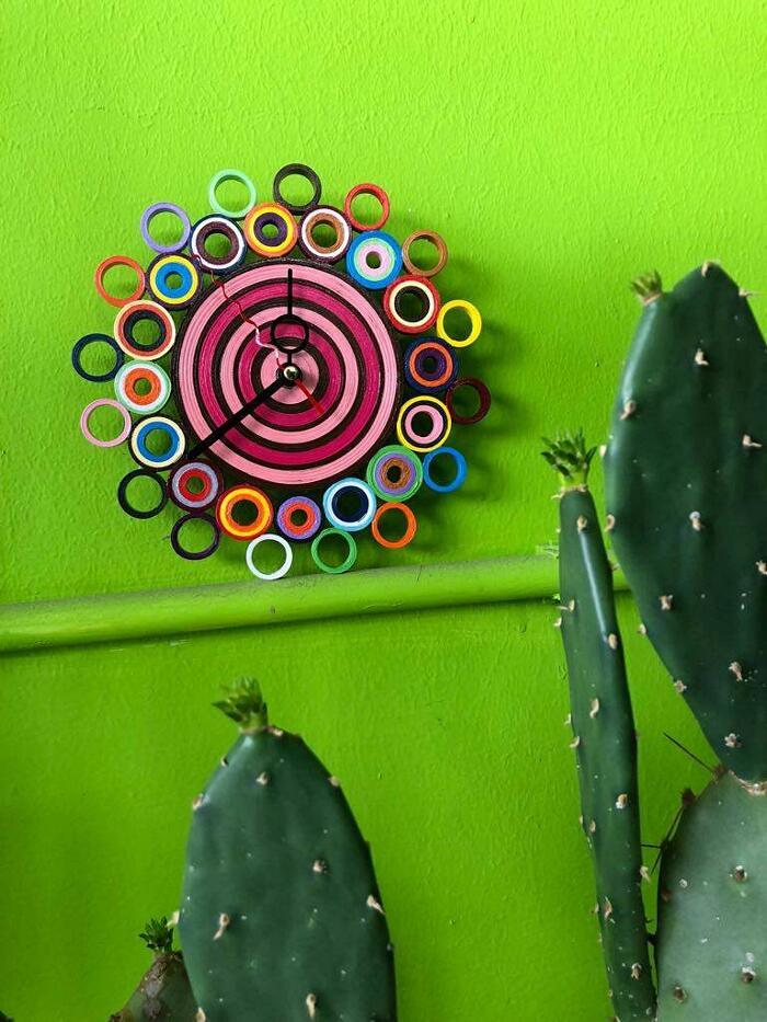 Orologi da parete in carta fatti a mano - MiGiraLaCesta