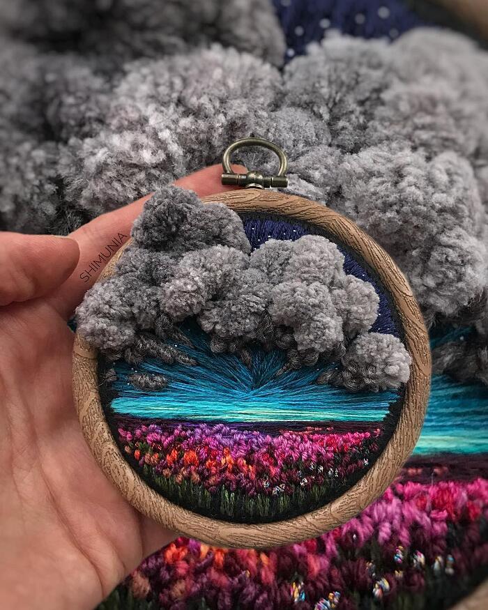 Paesaggi Ricamati Tridimensionali Vera Shimunia