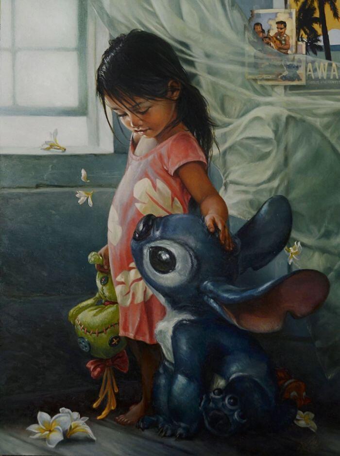 Dipinti Ad Olio Ispirati Ai Personaggi Disney Heather Theurer