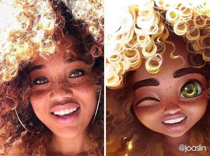 Ritratti Digitali Stile Disney Pixar Joaslin