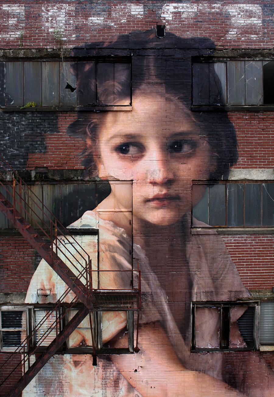 Street Art Dipinto Neoclassico Julien de Casabianca Memphis
