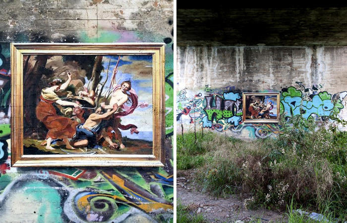 Artista riproduce dipinti famosi in luoghi insoliti ed abbandonati