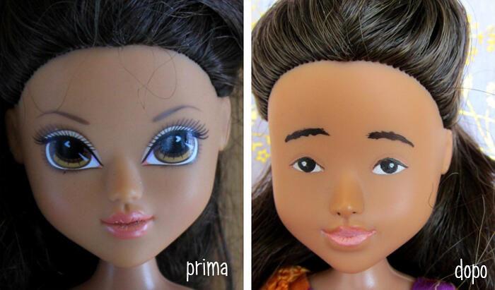 Ribambole: bambole ritrovate e ridipinte