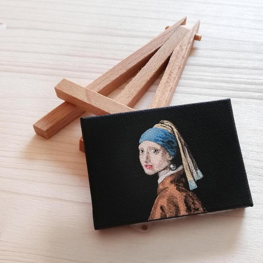Dipinti in miniatura di quadri famosi, Ilaria Lafronza
