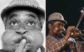 20 foto mostrano le incredibili guance rigonfie del leggendario musicista di jazz Dizzy Gillespie
