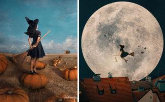 Artista immagina la vita quotidiana di una strega con l'aiuto di Photoshop