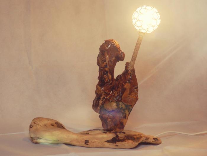 Lampade in legno di recupero - MimaAl