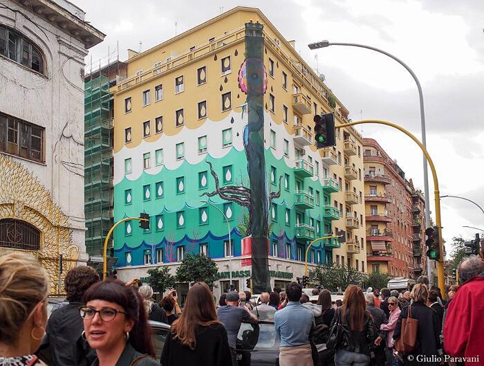 Murale Anti Inquinamento Hunting Pollution Iena Cruz Roma