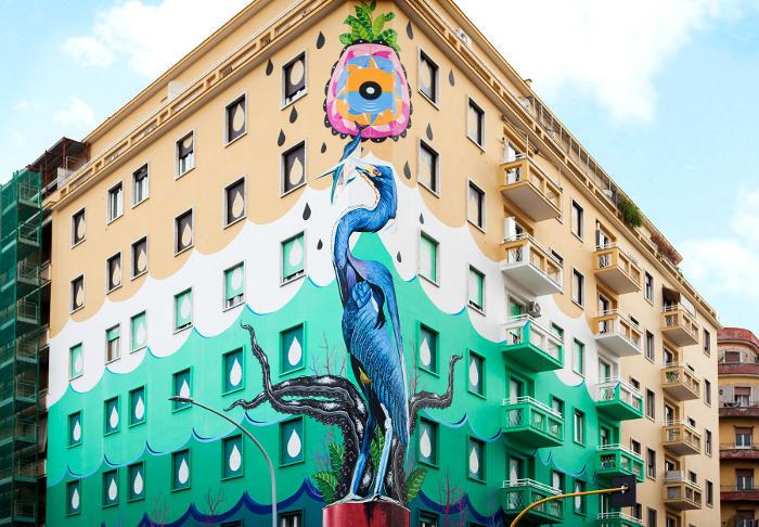 Un murale mangia-smog depurerà le strade di Roma come un bosco di 30 alberi