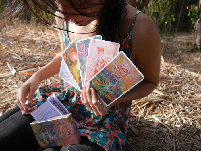 Oracolo Spirale, carte guida sull'amore, Cosmic Uterus