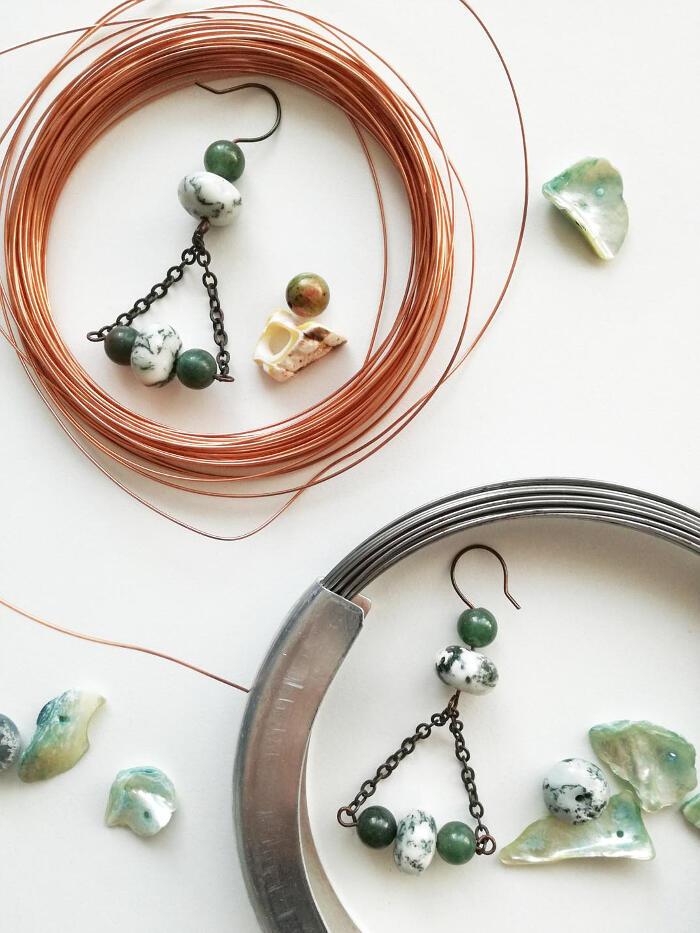 Orecchini pendenti colorati handmade - Sentiero Tropicale
