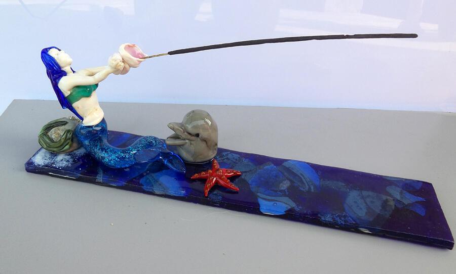 Spiritosi portaincenso vetro di Murano, Corte Studio Glass