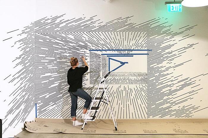 Arte Illusioni Ottiche Katy Ann Gilmore