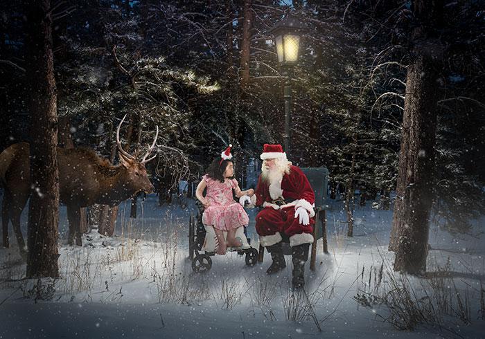 Bambini malati negli ospedali ricevono un magico Natale da fotografi volontari, The Heart Project