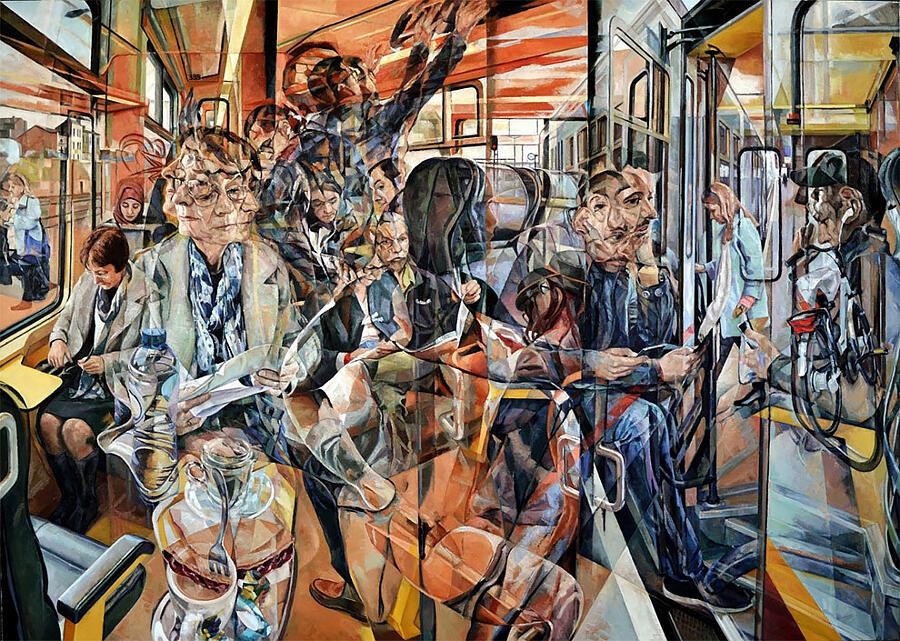 I dipinti ad olio di Clive Head sovrappongono i gesti segnando il passaggio del tempo
