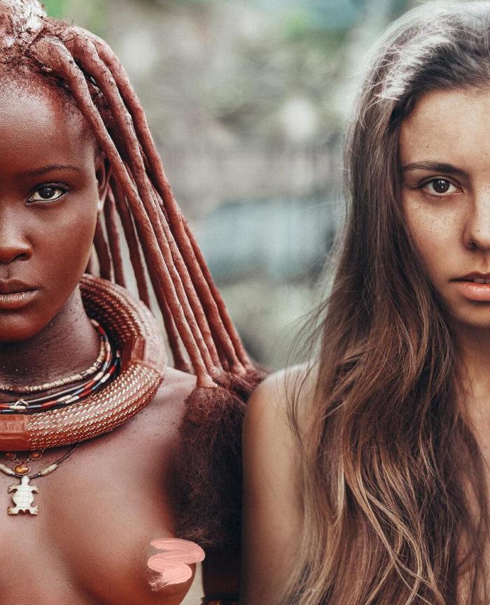 Ragazza russa viaggia per il mondo scattando selfie per mostrare le diverse bellezze femminili