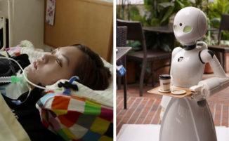 Bar in Giappone trova il modo di impiegare dei paralitici come camerieri