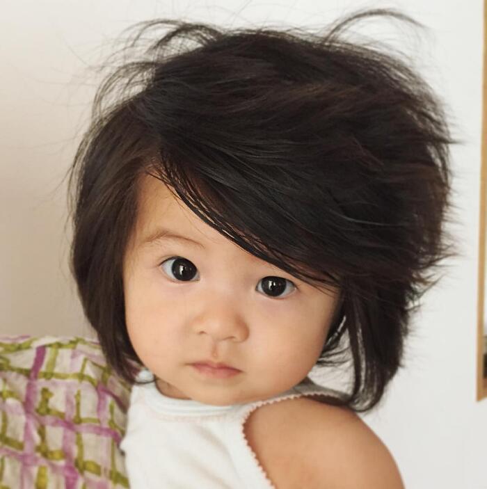 Bambina Capelli Lunghi E Folti Testimonial Pantene Giappone Baby Chanco