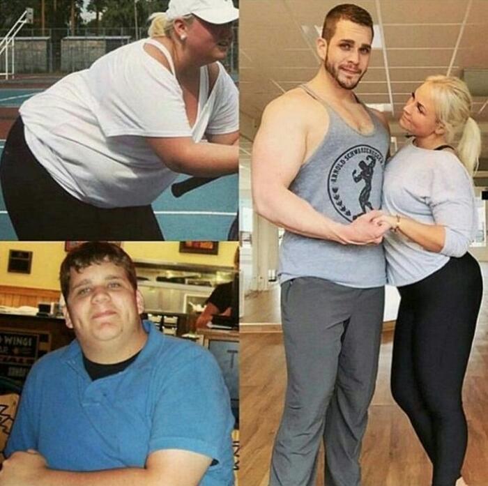 Foto Coppie Prima E Dopo Dieta E Sport