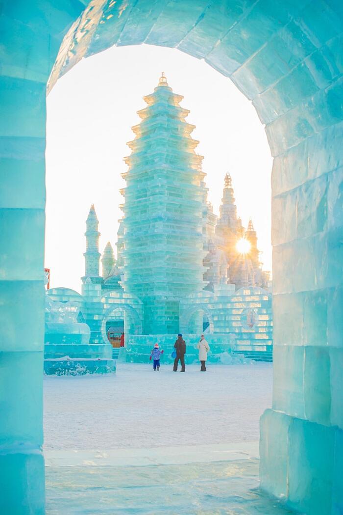 Festival Internazionale Di Sculture Di Ghiaccio E Neve 2019 Harbin Cina