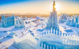 Il più grande festival di sculture di neve e ghiaccio del mondo ha aperto al pubblico