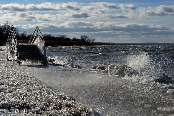 Foto Lago Balaton Inverno Ghiaccio