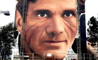 A Scampia, un enorme murale con il volto di Pasolini realizzato da Jorit