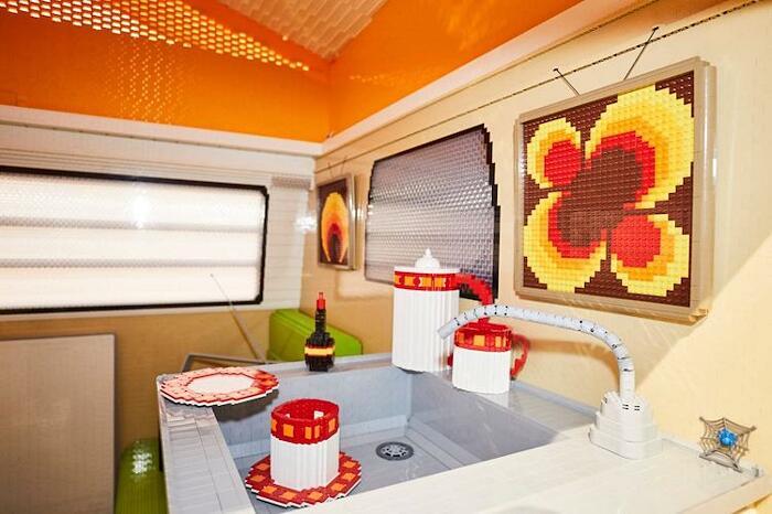 Riproducono Camper Volkswagen Con Lego