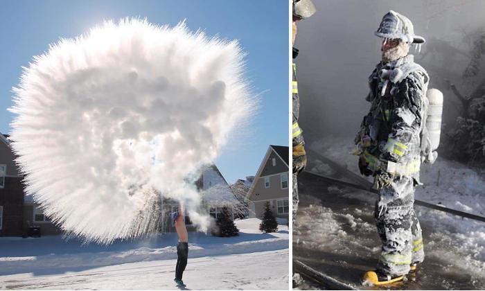 49 Foto Folli Mostrano il Vortice Polare Che Ha Investito gli Stati Uniti