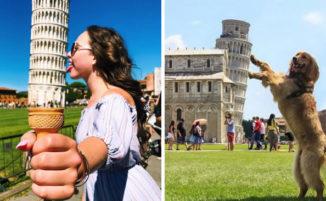 21 foto turistiche della Torre di Pisa davvero creative