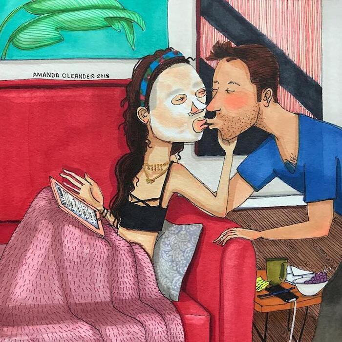 Illustrazioni Divertenti Sull'Amore Amanda Oleander