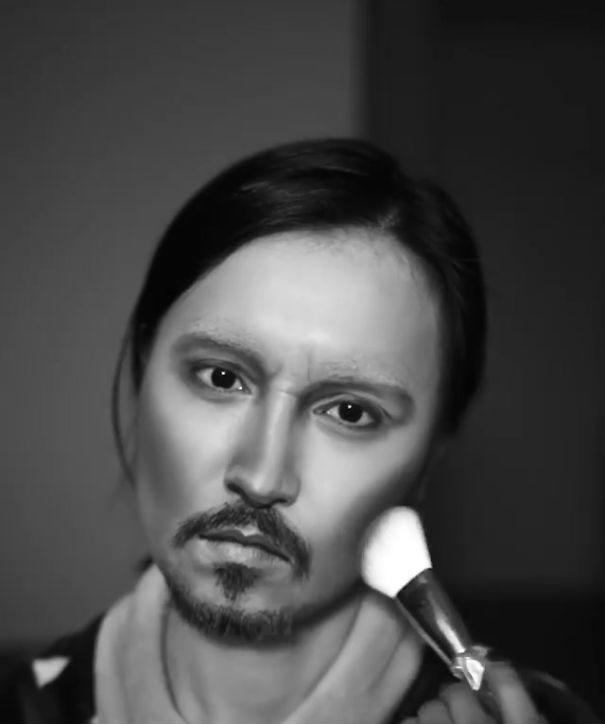 Make Up Artist Si Trasforma in Johnny Depp He Yuhong