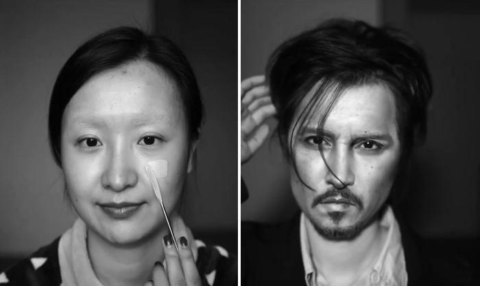 Make up artist cinese si trasforma in Johnny Depp, il risultato è straordinario