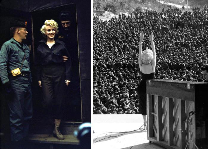 Quando Marilyn Monroe cantò per migliaia di soldati in Corea