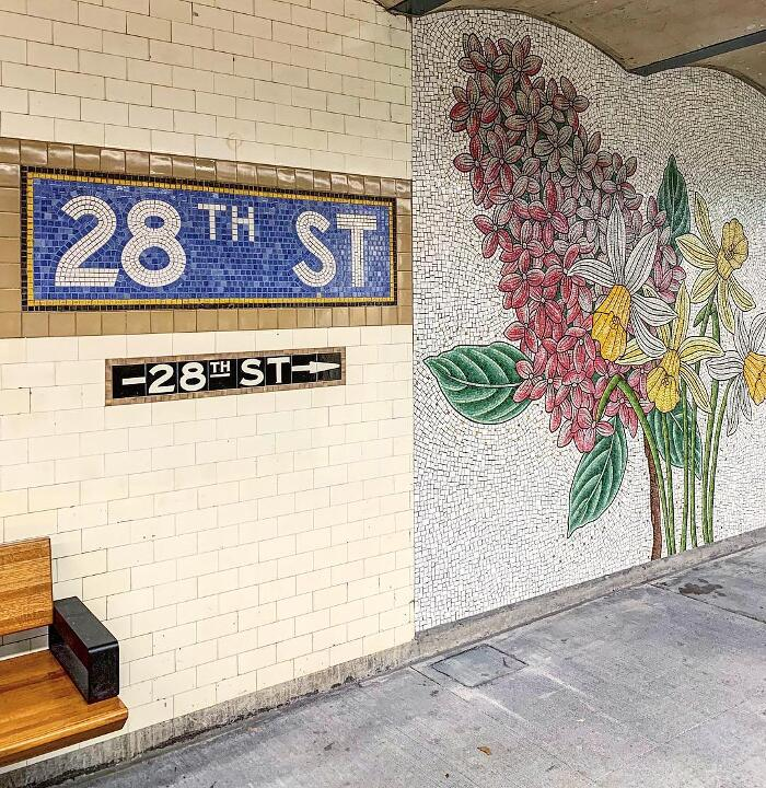 Mosaici Fiori Metro New York Nancy Blum