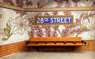 """Bellissimi mosaici """"fioriscono"""" nella stazione della metropolitana di New York"""