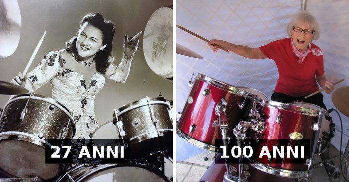 Inizia a suonare la batteria nel 1920, oggi ha 106 anni e suona ancora in una band