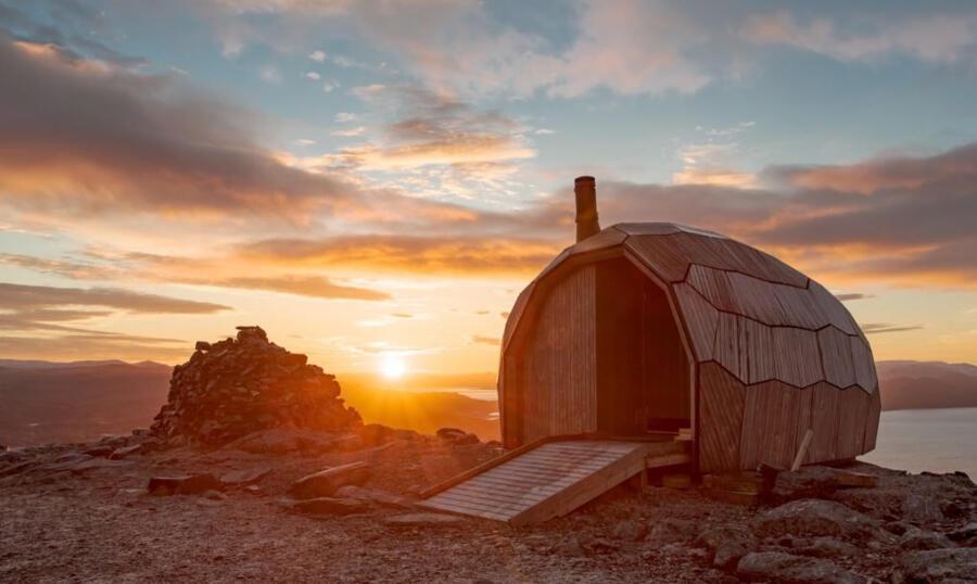 Chalet norvegese si monta come un puzzle 3D
